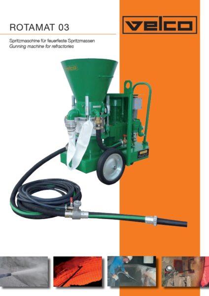 Spritzmaschine für feuerfeste Spritzmassen Rotamat03