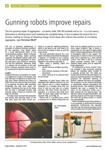 Steel Times - Gunning robots improve repairs