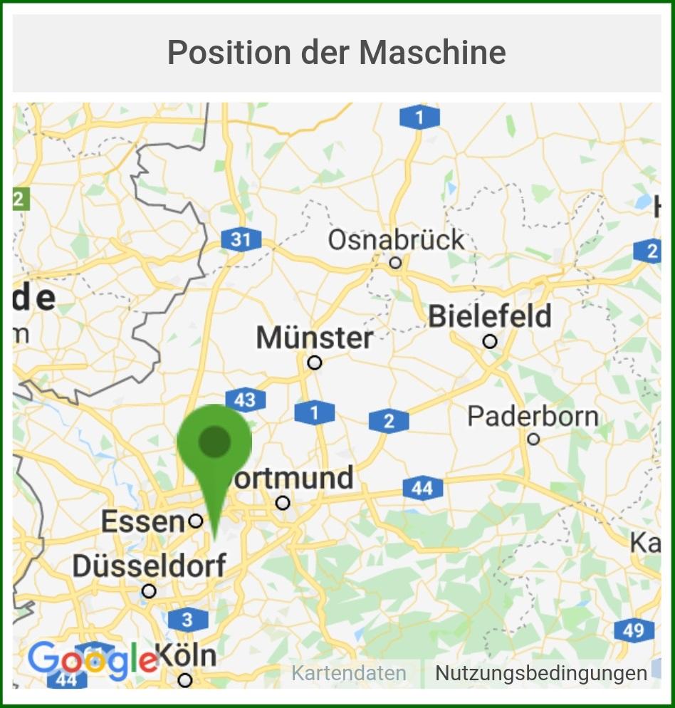 Fernabfragemodul - Position der Maschine