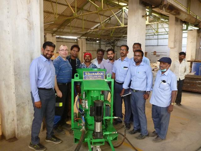Spritzmaschine für Indien