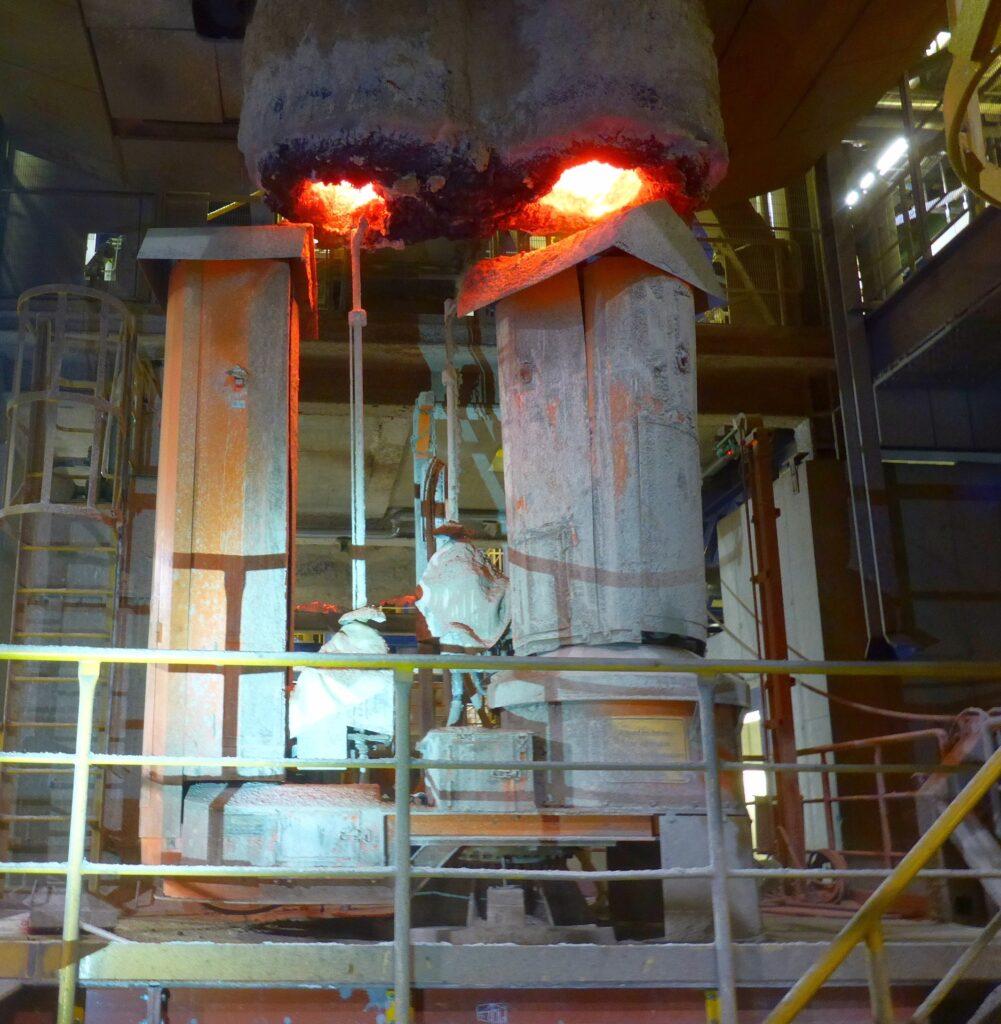 Tauchrohrspritzanlage zur Feuerfestpflege in Salzgitter
