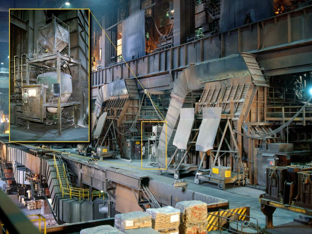 Konverterbühne Stahlwerk in Linz